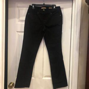 Nine West Vintage America Straight Black Jeans 6